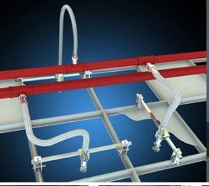 Ống mềm nối đầu phun sprinkler-tyco:TY-3431 Cạnh tường, dọc