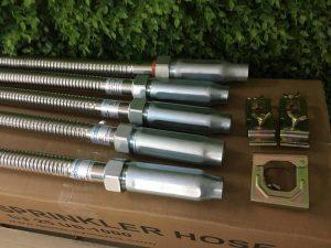 "Dây mềm inox DN25(1"") nối sprinkler DN15(1/2"") áp lưc 16bar, dài 1800mm, FM/ UL/LPCB"