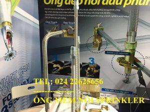 Flexible Braided Sprinkler Hose with Fittings-DJ25B1800 – cetificate FM