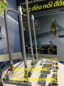 "Dây mềm inox DN25(1"") nối sprinkler DN15(1/2"") áp lưc 16bar, dài 1000mm, UL/LPCB"