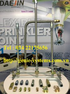 "Dây mềm DN25(1"") nối sprinkler DN15(1/2"") áp lưc 16bar, dài 700mm, UL/LPCB"