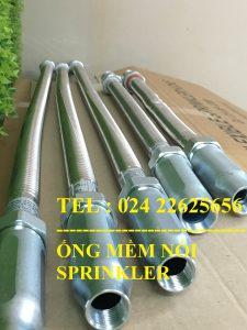 "Dây mềm inox DN25(1"") nối sprinkler DN15(1/2"") áp lưc 16bar, dài 1200mm, FM/ UL/LPCB."