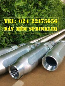 Dây mềm DN25 Inox nối sprinkler DN15, dài 2000mm, 12kg / 12kg/cm2 UL LPCB