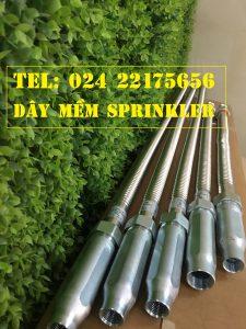 Dây mềm DN25 Inox nối sprinkler DN15, dài 1800mm, 12kg / 12kg/cm2 UL LPCB