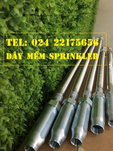 Dây mềm DN25 Inox nối sprinkler DN15, dài 1500mm, 12kg / 12kg/cm2 UL LPCB