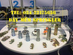 "Dây mềm 1""(DN25) Inox nối sprinkler 1/2"" (DN15), dài 1800mm, 14bar – 14kg/cm2 UL LPCB"
