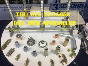 "Dây mềm 1""(DN25) Inox nối sprinkler 1/2"" (DN15), dài 1500mm, 14bar – 14kg/cm2 UL LPCB."